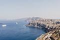Crater rim - view from Athinios port - Santorini - Greece - 01.jpg