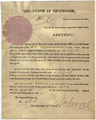 Credential of election for David Crockett, 1827.png