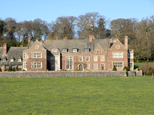 Creedy, Sandford - Creedy Park, Sandford, Devon, south front in 2014. This is the present house rebuilt in 1916-21