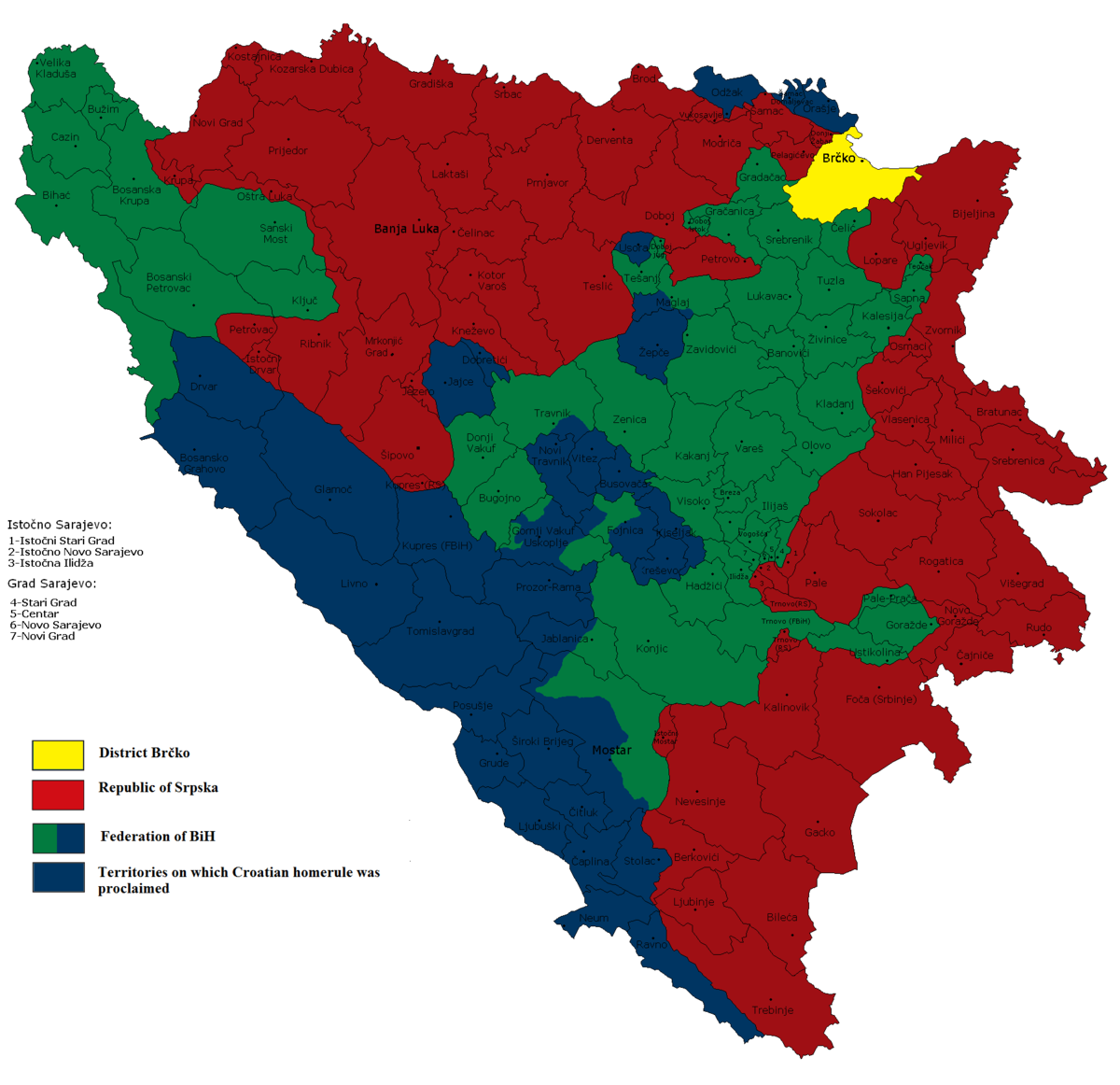 Croat entity in Bosnia and Herzegovina - Wikipedia