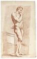 Croquisteckning på naken man, 1700-tal - Skoklosters slott - 99337.tif