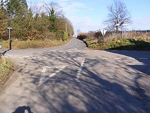 English: Crossroad at Ellough