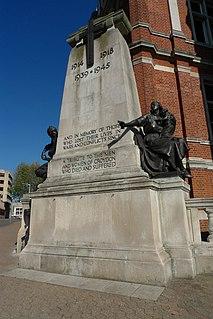 Croydon Cenotaph war memorial in Croydon, London, England