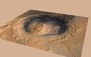 Gale (crater) - Image: Curiosity Cradled by Gale Crater