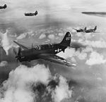 Curtiss SB2C-4 Helldivers of VB-86 in flight tin March 1945.jpg
