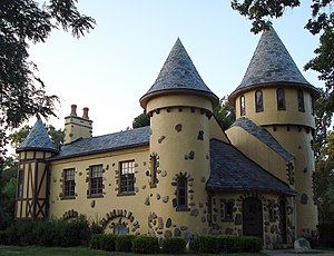 Owosso, Michigan - Curwood Castle, listed on the National Register of Historic Places