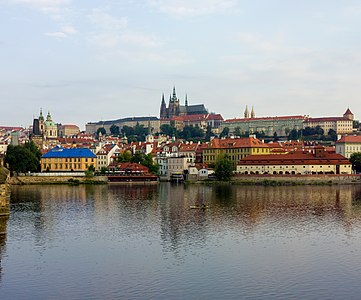 Czech-2013-Prague-View from Charles Bridge of Prague Castle.jpg