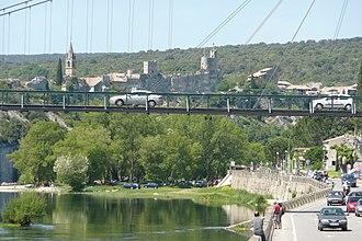 Saint-Martin-d'Ardèche - Image: Détail Pont à Saint Martin d'Ardèche