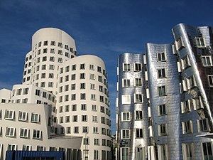 District 3, Düsseldorf - Neuer Zollhof at Medienhafen, designed by Frank Gehry