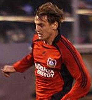 Dmitri Bulykin - Bulykin in action for Bayer Leverkusen
