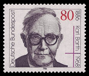 English: 100th day of birth of Karl Barth (188...
