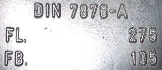 DIN 7876 German standard for manufacture of swimfins