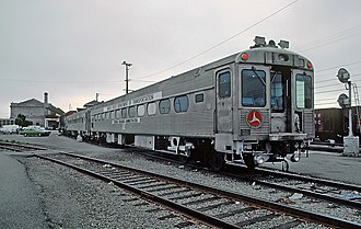 Budd Metroliner - This USDOT Silverliner, seen here in 1981, was used to test infrastructure for the Metroliners in 1967.