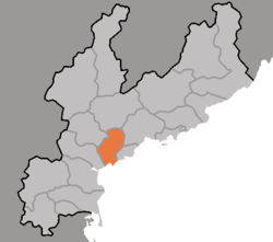Map of South Hamgyong showing the location of Hamhung