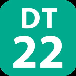 Nagatsuta Station - Image: DT 22 station number