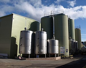 Crediton - Storage silos at the Milk Link creamery, which produces UHT milk