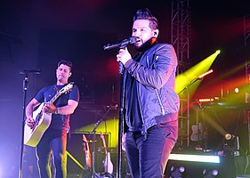 Dan + Shay performing in 2017