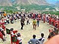 Dance of Swati Guests with traditional music at baltit fort 2014.jpg