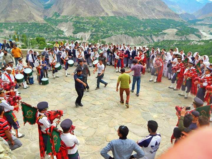 Dance of Swati Guests with traditional music at baltit fort 2014