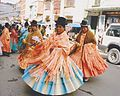 Dancing Indian women in La Paz Bolivia I think is a kind of sugar feast.jpg