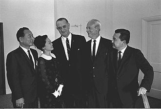John A. Burns - Image: Daniel Inouye, Lyndon Johnson