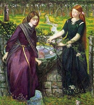 Rachel (given name) - The Biblical Rachel and Leah by Dante Gabriel Rossetti.