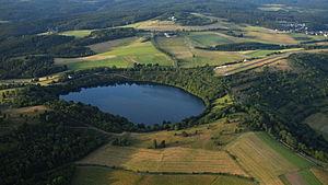 Weinfelder Maar - Weinfelder Maar (2015 aerial photo)