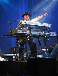 David Paich during a live concert