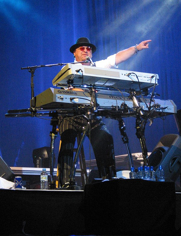 David Paich behind his keyboards