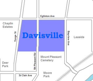 Davisville Village - Image: Davisville map
