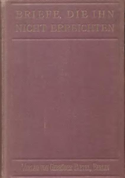 File:De Briefe die ihn nicht erreichten Heyking Elisabeth von.djvu