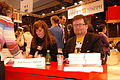 De to nordiske forfatterne signerer boker pa den franske bokmessen i Paris, Salon du Livre.jpg