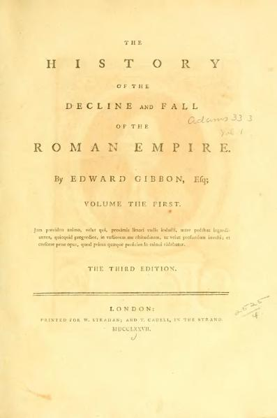 File:Decline and Fall of the Roman Empire vol 1 (1777).djvu