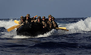 Defense.gov News Photo 110507-N-OS574-092 - U.S. Marines embarked aboard the amphibious assault ship USS Bataan LHD 5 participate in small boat operations with the amphibious transport dock.jpg