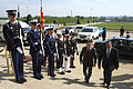 Defense.gov News Photo 120416-D-BW835-027 - Secretary of Defense Leon E. Panetta escorts the Defense Minister of Macedonia Fatmir Besimi through an honor cordon and into the Pentagon on April.jpg