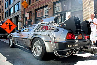 "Uber - DeLorean ""time machine"" provided by Uber"