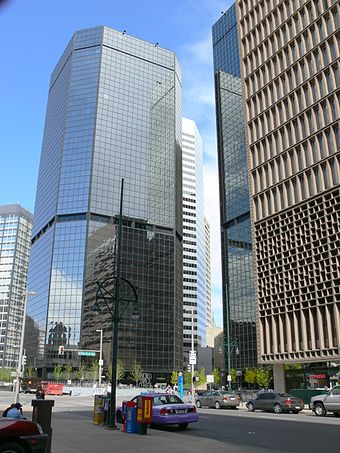 Denver Energy Center lies in the Denver financial district along 17th Street, known as the Wall Street of the West Denver CO DT WTC AMH 322.JPG