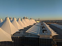 Denver International Airport Main Terminal early morning.jpg