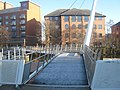Derbys new Swing Bridge, Cathedral Green, Derby - geograph.org.uk - 1706022.jpg