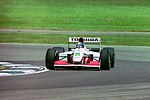 Derek Warwick - Footwork FA14 during practice for the 1993 British Grand Prix (33302822660).jpg