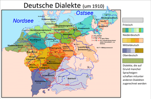 Low Prussian dialect - Image: Deutsche Dialekte 1910