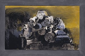 Graham Sutherland - Devastation, 1941: East End, Burnt Paper Warehouse (Tate)