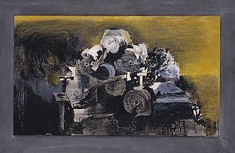 Graham Sutherland - Devastation, 1941: East End, Burnt Paper Warehouse (Tate)