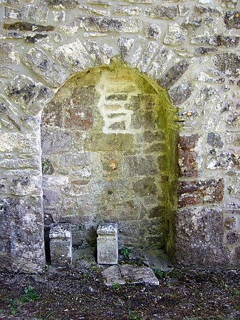 English: Devil's door at St Illtyd's These doo...
