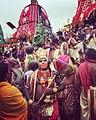 Devotee Performing the Role of Lord Hanuman at 2019 Puri Ratha Jatra.jpg