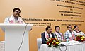 Dharmendra Pradhan addressing at the cheque handing over ceremony on payment of differential royalty by OIL and ONGC to Government of Assam, in New Delhi.jpg