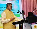 Dharmendra Pradhan addressing at the exchange of MoU documents between Oil PSUs and innovators & incubatees on start-up funds to mentor budding entrepreneursinnovators, in New Delhi.jpg