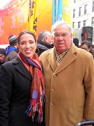 Thomas Menino - Menino with State Senator Sonia Chang-Díaz