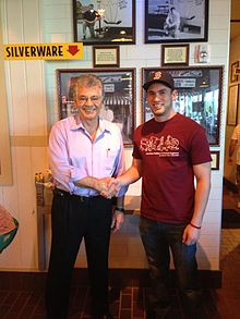 Dick Portillo with a loyal customer at the new Scottsdale, AZ location