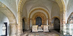 Goslar Cathedral - Porch interior with Imperial Throne